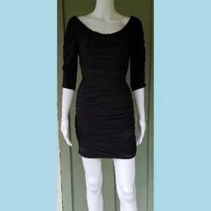ALICE by Temperley Black Ruched Mini Dress 2